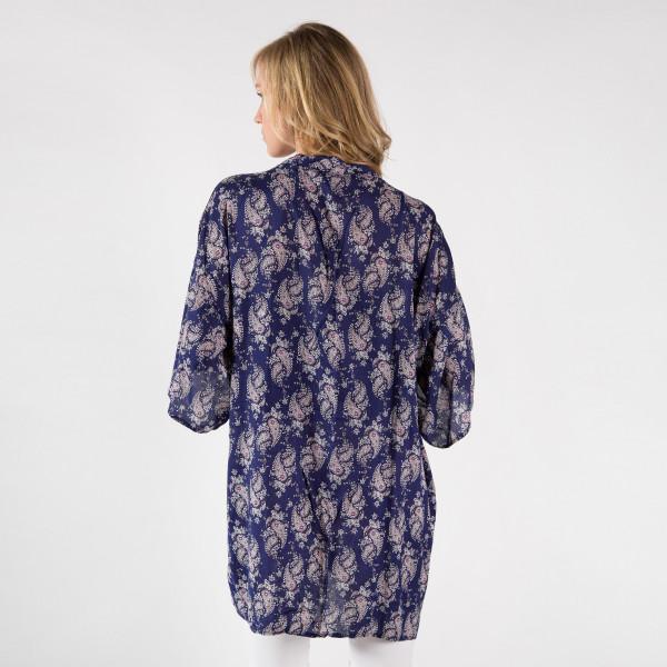 Light weight kimono. 100% viscose.