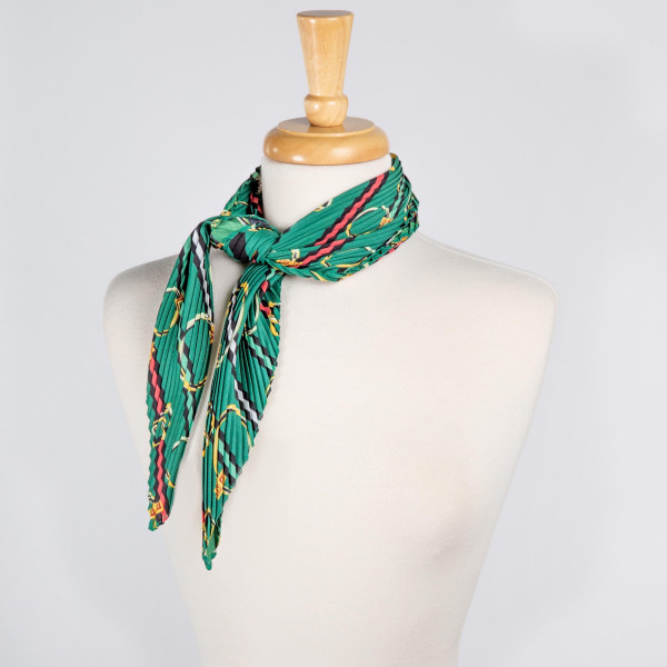 """Light weight printed scarf. Dimensions: 27 1/2"""" x 27 1/2 100% POLYESTER"""