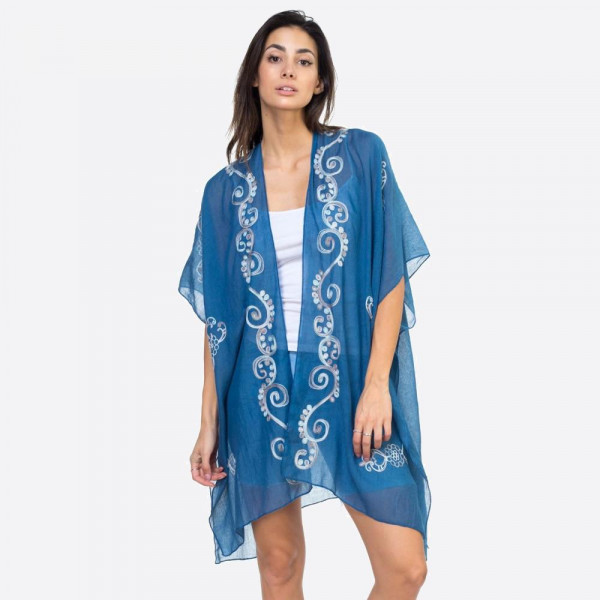 Wholesale eastern embroidered kimono POLYESTER