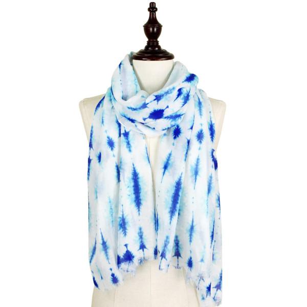 Tie dye print scarf. 100% polyester.