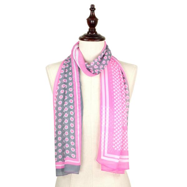 Retro chiffon scarf. 100% polyester.