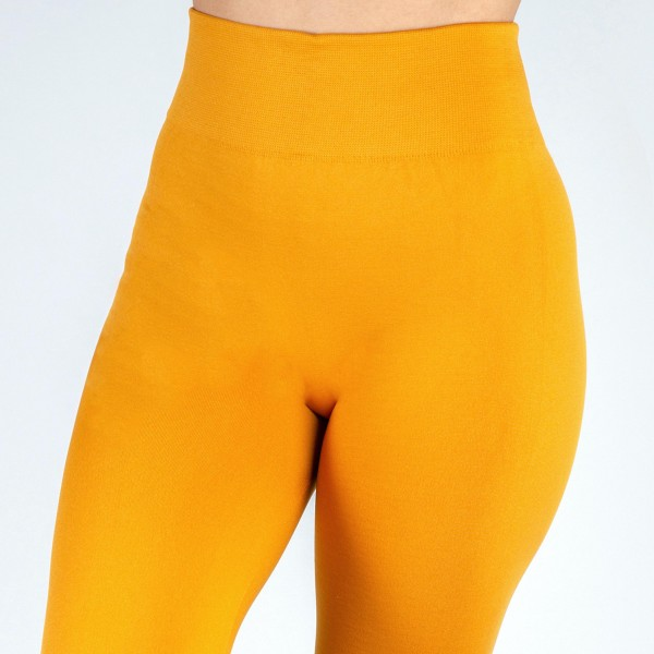"New Mix brand women's solid color full length fleece lined seamless leggings.  - One size fits most 0-12 - Size suggestions are approximate - Fit depends on height and body shape - Approximately 2"" elastic waistband - Inseam approximately 26.5"" in length - 92% Nylon, 8% Spandex"
