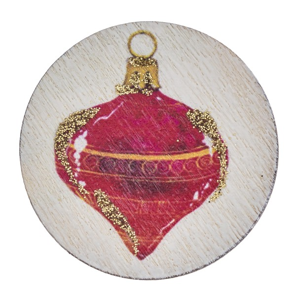 """Accessorize your phone grip with this wooden Christmas ornament decorative peel and stick charm. Approximately 1.5"""" in diameter. Fashion charms can also be used for the following:  - Laptops - Refrigerator Magnets - On DIY Home Projects - Car Dashboard - And anywhere you can Imagine"""
