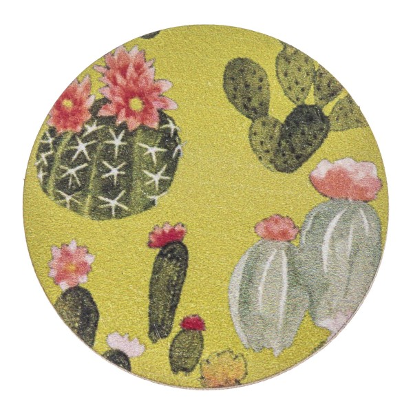 """Accessorize your phone grip with this wooden cactus decorative peel and stick charm. Approximately 1.5"""" in diameter. Fashion charms can also be used for the following:  - Laptops - Refrigerator Magnets - On DIY Home Projects - Car Dashboard - And anywhere you can Imagine"""