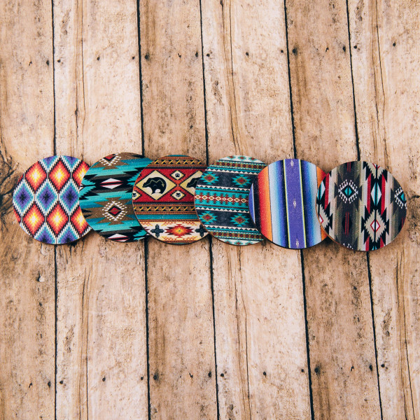 """Accessorize your phone grip with this wooden tribal print peel and stick charm. Approximately 1.5"""" in diameter. Fashion charms can also be used for the following:  - Laptops - Refrigerator Magnets - On DIY Home Projects - Car Dashboard - And anywhere you can Imagine"""