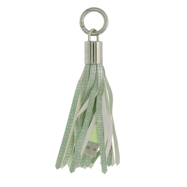 Wholesale portable cell phone charger tassel keychain regular USB USB Micro cabl