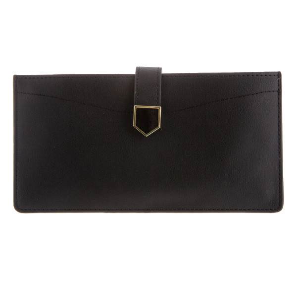 "Faux leather metallic wallet. 8"" x 4"""