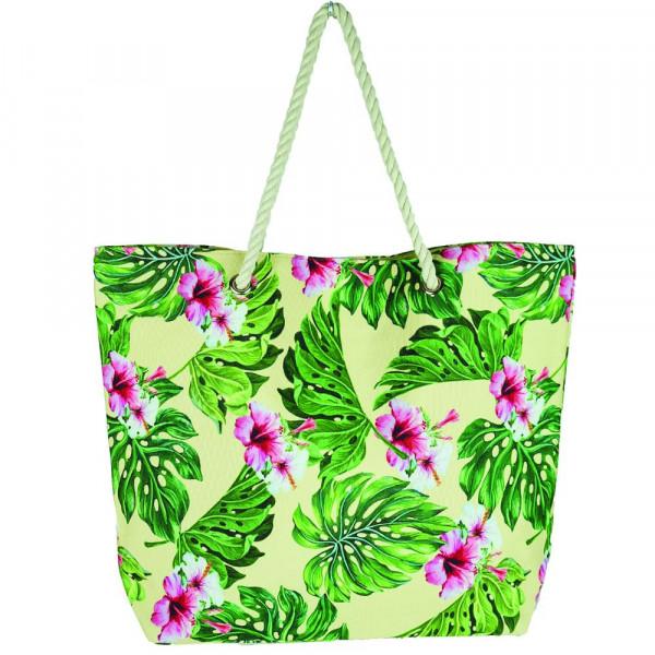 "Hibiscus beach bag. 20 1?4"" x 15 1?2"" x 5"""