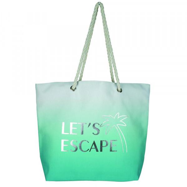 "Let's escape beach bag. 20 1?4""X15 1?2""X5"" 60% COTTON, 40% POLYESTER."