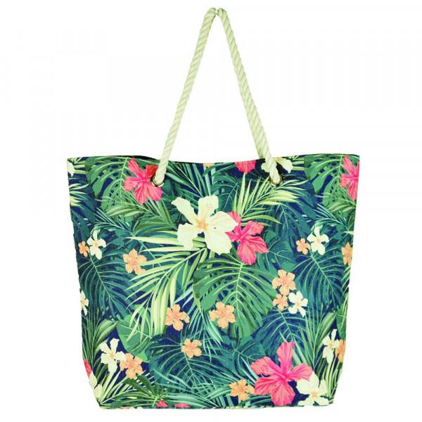 """Tropical flower beach bag. 20 1?4"""" x 15 1?2"""" x 5"""""""