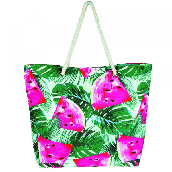 "Watermelon beach bag. 20 1?4"" x 15 1?2"" x 5"""