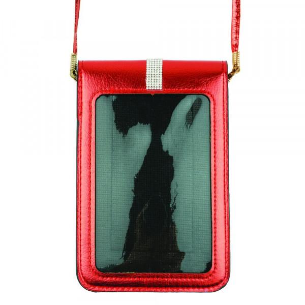"Crossbody cellphone and handbag.  4 3/4""X7 1/4"". 100% PU"