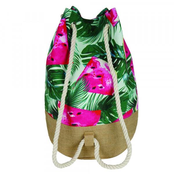 """Tropical watermelon beach bag.18 1?4"""" x 18 1?4"""" x 11"""""""