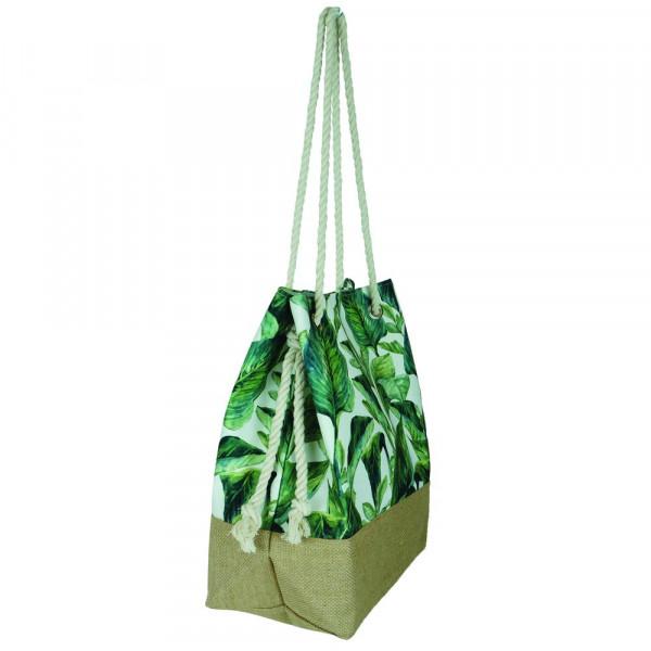 """Tropical leaves beach bag. 20 1?2"""" x 15 1?2"""" x 7"""""""