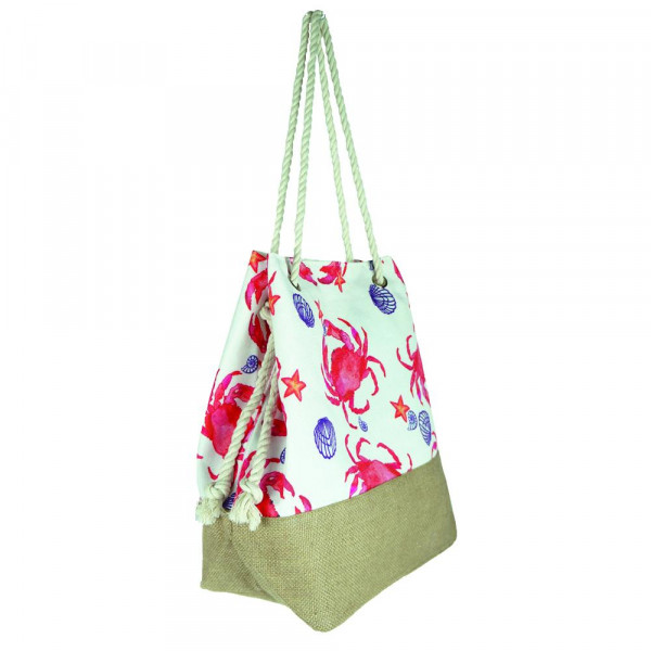 """Crab beach bag. 20 1?2"""" x 15 1?2"""" x 7"""""""