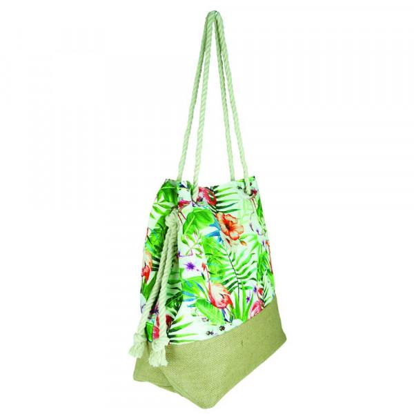 """Tropical flamingo beach bag. 20 1?2"""" x 15 1?2"""" x 7"""""""