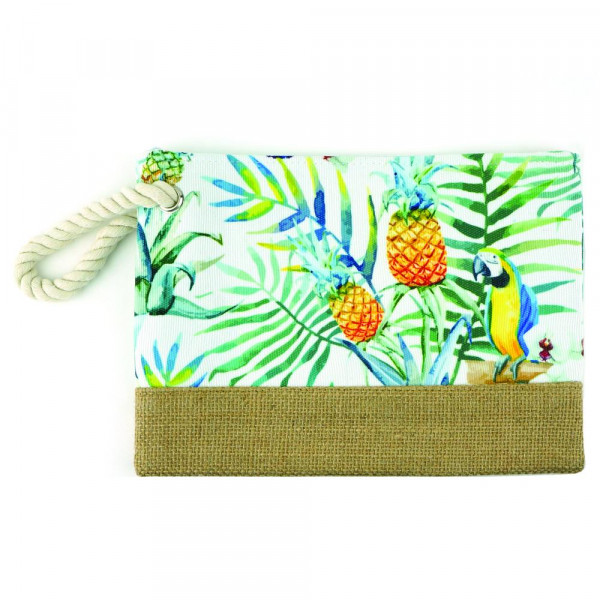 """Tropical beach pouch. 10"""" x 7"""""""