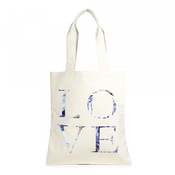 "Eco friendly bag with ""Love"" message. 100% Cotton. 13"" x 15"" in length."