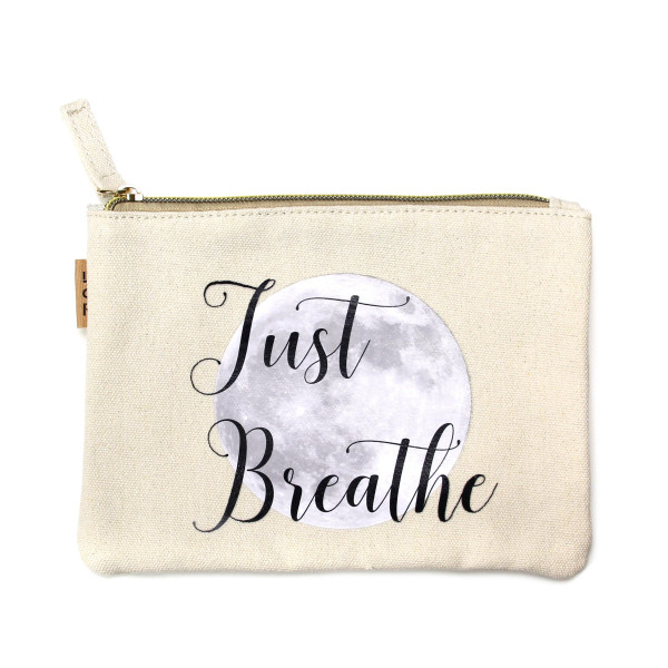 Wholesale eco friendly pouch Just Breathe Cotton
