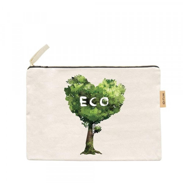 Wholesale canvas zipper pouch Eco Cotton