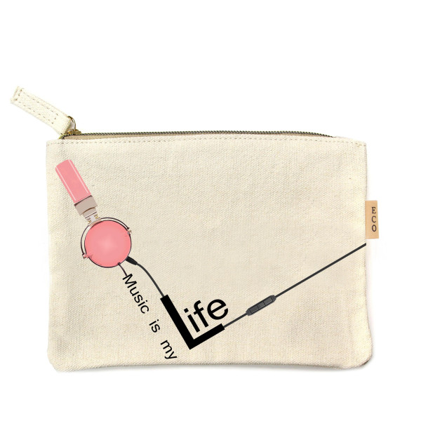 Wholesale canvas zipper pouch Life Cotton