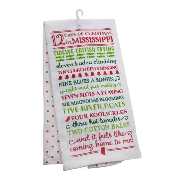 wholesale days christmas mississippi tea towel open cotton all artwork lyrics c - Christmas Blues Lyrics