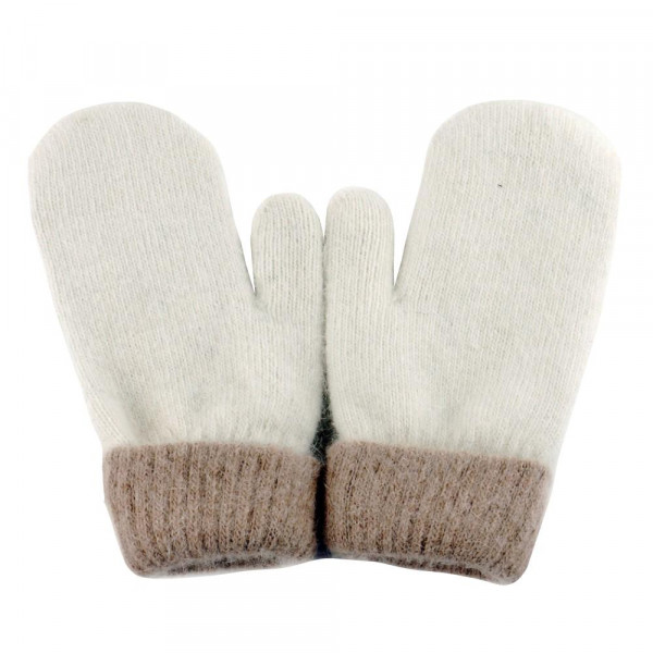 Soft touch knit mittens.