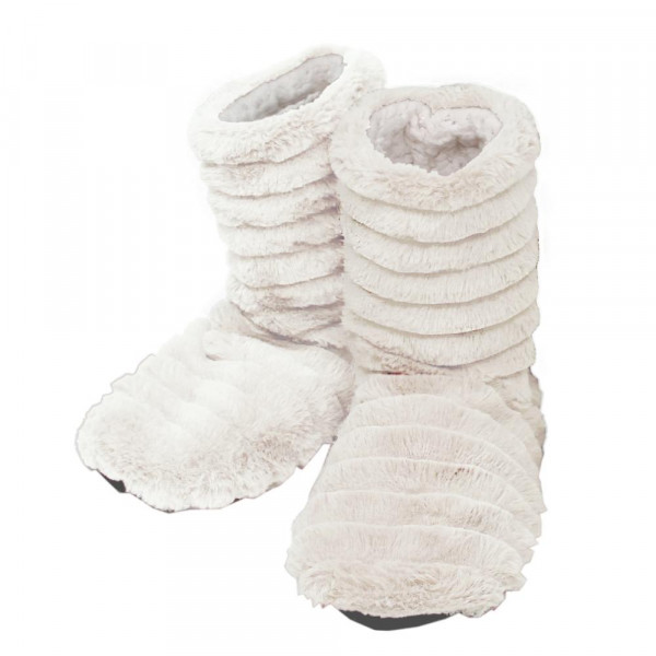 Faux fur indoor sherpa lined bootie slippers.  - Small (5-6) - 100% Polyester