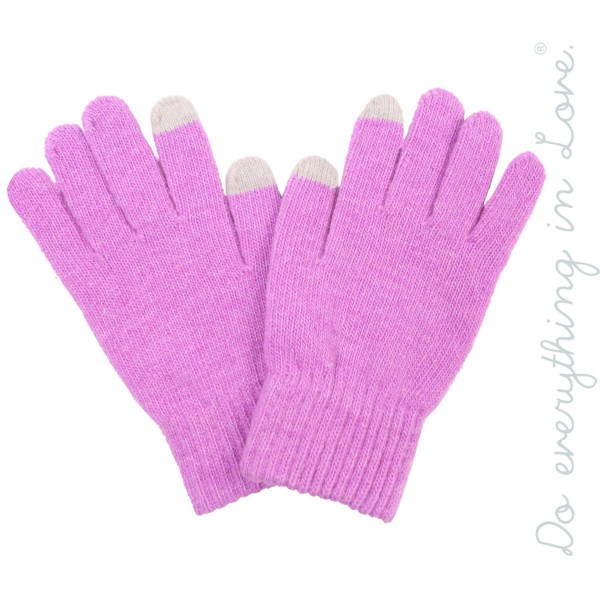 Do everything in Love brand solid knitted smart touch gloves with gift box included.  - One size fits most  - 100% Acrylic