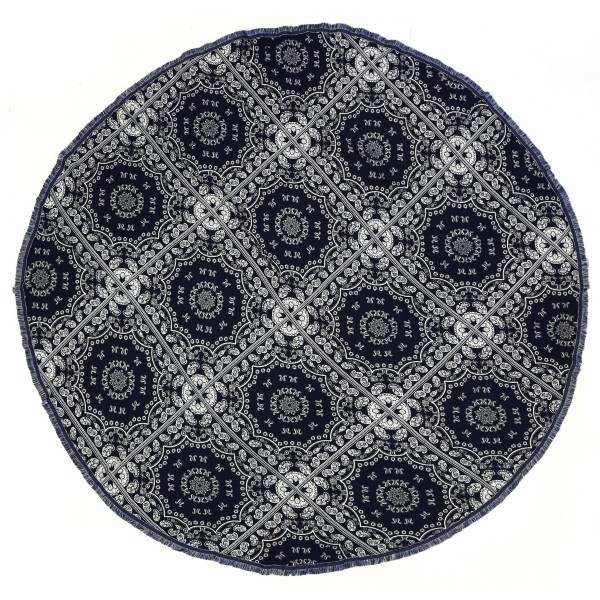 "Do everything in Love brand lightweight bandana print round beach throw.  - Approximately 59"" in diameter - 100% Viscose"
