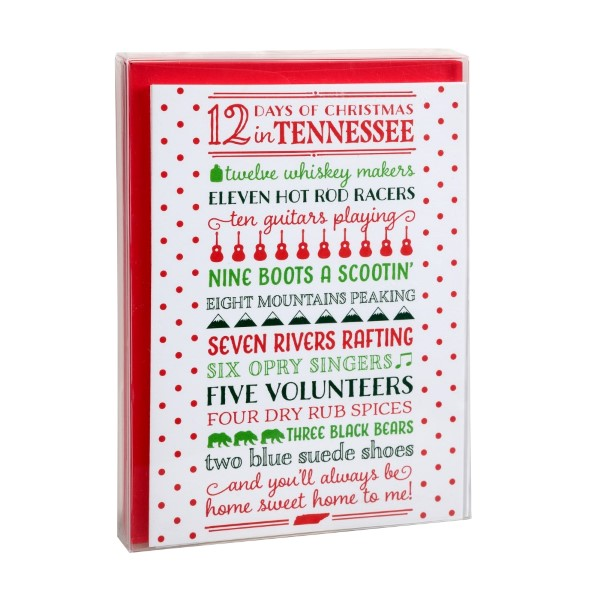 holiday greeting cards 12 days of christmas in tennessee box of 8