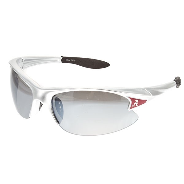 Officially licensed silver rimless Alabama sunglasses.
