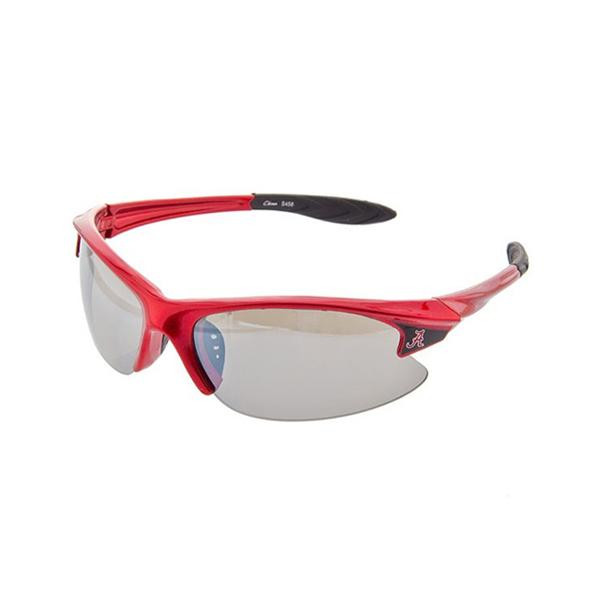 Licensed Alabama sport sunglasses with the crimson script logo