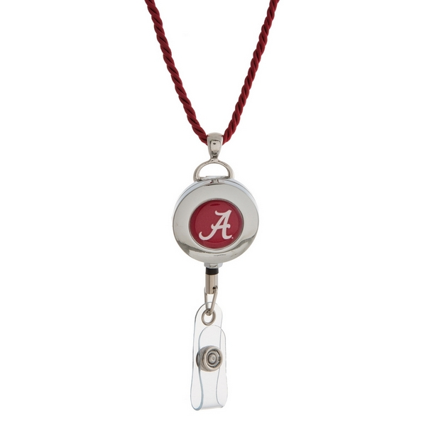 """Officially licensed University of Alabama lanyard and ID holder with a break-away cord. Approximately 32"""" in length."""