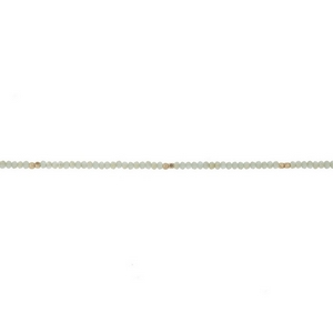 """Dainty mint green beaded choker with gold tone accents. Approximately 12"""" in length."""