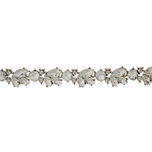 """Black faux suede wrap choker with a clear rhinestone focal. Approximately 72"""" in length."""