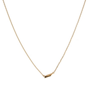 "Dainty gold tone necklace with a state of Tennessee pendant. Approximately 16"" in length."