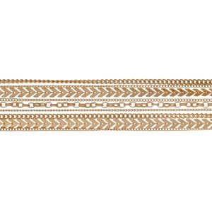 """Gold tone, multilayered choker necklace. Approximately 12"""" in length."""