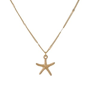 "Dainty necklace starfish pendant. Approximately 16"" in length."