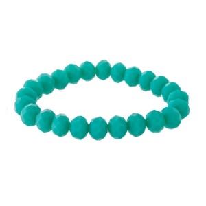 Aqua beaded stretch bracelet.
