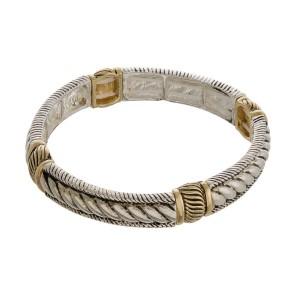 Metal stretch bracelet.