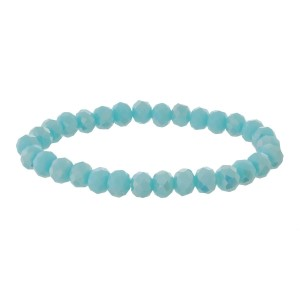 Dainty, faceted bead stretch bracelet.