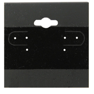 """100 count 2"""" x 2"""" black hanging earring cards"""