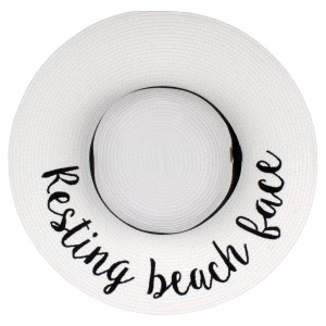 """C.C Brand, wide-brim floppy beach hat. 100% paper. Brim measures 4"""" in width and hat is 15.5"""" in total diameter. This hat is crushable/packable and able to hold it's shape. UPF 50+"""