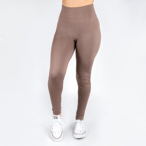 New Kathy / New Mix mocha, summer-weight leggings are seamless, chic, and a must-have for every wardrobe. These lightweight, full-length leggings are versatile, perfect for layering, and available in many shades. Smooth fabric, 92% Nylon 8% Spandex. One size fits most, fits US women's 0-14.