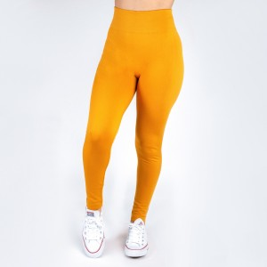 New Kathy / New Mix mustard, summer-weight leggings are seamless, chic, and a must-have for every wardrobe. These lightweight, full-length leggings are versatile, perfect for layering, and available in many shades. Smooth fabric, 92% Nylon 8% Spandex. One size fits most, fits US women's 0-14.