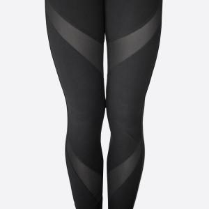 Mesh Insert Yoga Leggings. Sold in packs of 10, 5-S/M 5-L/XL. 95% Polyester, 5% Spandex
