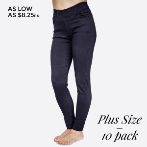 PLUS SIZE Stretch Twill 5 Pocket Skinny Pants with Belt Loop. 60% Cotton, 35% Nylon, 5% Spandex. 10 Pack: 5 1XL/2XL  5 2XL/3XL Made in China.