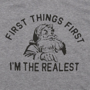 First things first, I'm the realest - Short Sleeve Boutique Graphic Tee. These t-shirts are sold in a 6 pack. S:1 M:2 L:2 XL:1 Color: Gray, 50% Cotton 50% Polyester Brand: Anvil
