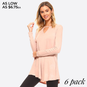 Long Sleeve Crew-Neckline Tunic